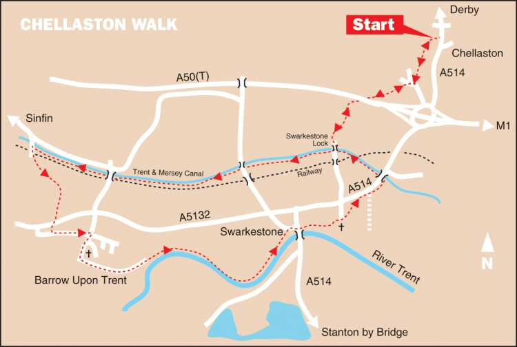 Map Of Uk Derby.Chellaston Walk Map Discover Derby