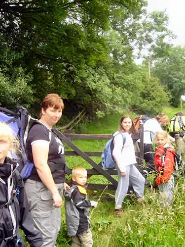 Derbyshire Family Rambling Group on a walk in 2004. Photograph courtesy of Derbyshire Family Rambling Group.