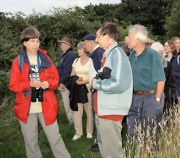 Last year's walk at West Park Nature Reserve. Photograph courtesy of Anne Morgan.